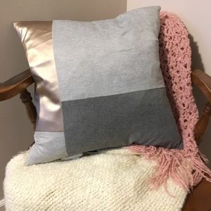 Gray & Rose gold modern pillow